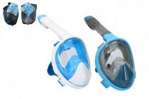 Šnorchlovacie potápačská maska pre dospelých 25cm veľ. SM - mix farieb