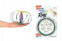 Flow Ring kovová farebná špirála priemer 13cm na karte 16x24cm