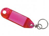 visačka na kľúče 8,0x2,4cm plastová, s rozdeľ. (4ks) - mix farieb