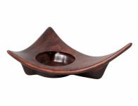 Svietnik WOOD keramický tmavo hnedý matný 21cm