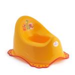 Dětský nočník s melodií, protiskluzový, oranžový, dinosauři, Cuculo