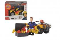 Požiarnik Sam Mercury štvorkolka s figúrkou