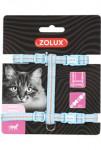 Postroj kočka TEMPO nylon modrý Zolux