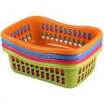 košík TIN 22x16x8cm plastový (malý) - mix farieb
