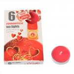 sviečka čajová vonná ROMANTIKA (6ks) (horí 6x3-4hod)