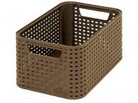 box úložný RATTAN 28,5x19x13cm (S), STYLE2, plastový, MOCCA tm.