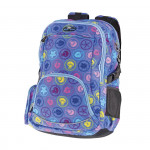 Easy flow 838001 Batoh školní dvoukomorový fialový s barevným potiskem, profilovaná záda, 26 l