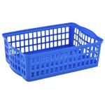 košík stohovatelný A4 36x24,5x10cm plastový - mix barev