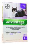 Advantage 80mg pre veľké mačky a králiky, 4x 0,8ml roztok na kvapkanie na kožu