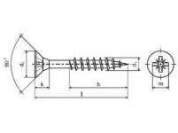 vrut un. polozávit 6,0x140mm ZZ (100ks)