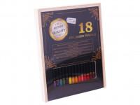 Pastelky Exclusive art v drevenej škatuľke 18 ks