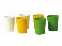 kalíšok 40ml plastová (6ks) - mix farieb