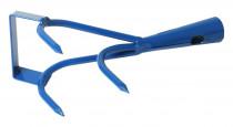 Kypřič 3 hrotý bez násady s nožem - modrá