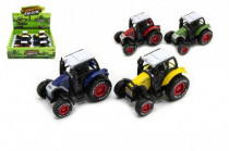 Traktor kov / plast 9cm na spätný chod - mix farieb