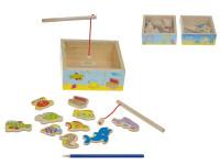 Hra ryby/rybář dřevo akvárium magnetické - mix variant či barev