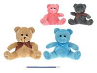 Medvídek plyšový s mašličkou - mix barev