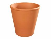Kvetník ROSA keramický terakota 16 / 20x20cm - VÝPREDAJ