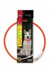Obojok DOG FANTASY svetelný USB oranžový 65 cm 1ks