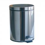 kôš odpadkový nášľapný 3l guľatý nerez, s vložkou plastový