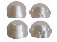 formička medvedík, mačička plastová (2ks)