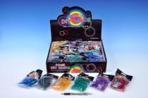 Udělej si svůj náramek - gumičky 300ks s doplňky v sáčku 36ks vboxu - mix barev