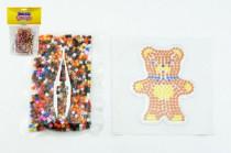 Zažehlovací korálky medvídek plast