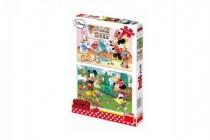 Puzzle Pracovitá Minnie 2x66 dielikov 32,3x22cm
