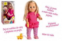 Panenka Sofinka s pejskem chodící a česky mluvící plast 42cm na bat. se zvukem