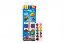 Vodové barvy se štětcem Ocean World 12barev/21mm v plastové krabičce