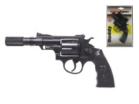 Pistole - Kapslovka Buddy s tlumičem 23cm 12 ran
