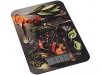 váha kuchynská plochá 5kg digitálne, tvrz. sklo, KORENIE - mix variantov či farieb