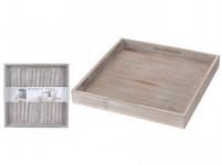 podnos dekoračné 30x30x3cm drevený ŠE