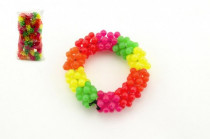 Náramok obrúbený plast - mix farieb