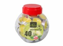 Sviečka čajová Citronella vonná v dóze 40ks