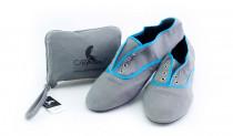 Skladacie topánky do kabelky Strand blue