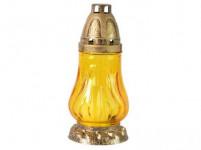 lampa hřbitovní sklo 18cm (30g) (hoří 9hod) paraf. - mix barev
