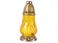 lampa hřbitovní sklo 18cm (30g) (hoří 9hod) paraf., barev - mix variant či barev