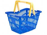 košík nákupné, 2 držadlá 38,5x28x25cm plastový, nosn.10kg - mix farieb