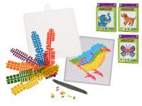 Mozaikové puzzle plast v krabičce 17x25cm - mix variant či barev