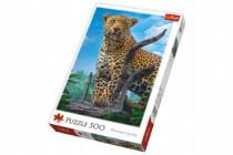 Puzzle Divoký Leopard 500 dielikov 34x48cm