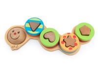 Húsenica - navliekacie drevená montessori hračka
