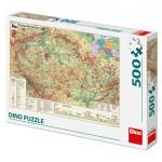 Dino puzzle Mapa českej republiky 500D
