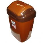 koš odpadkový výklopný STANDARD 15l čtvercový, hladké víko plastový, HN