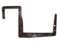 Držiak na truhlík balkón - S hranol hnedý 12 cm