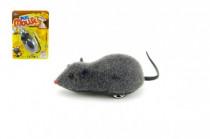 Myš plast 10cm na zpětné natažení