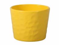 Obal na kvetináč NEAPOL keramický žltý lesklý d13x12cm