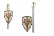Meč penový sa štítom 75cm