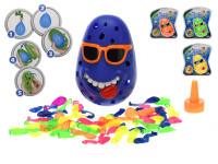 Vodná hra klaun s 50 ks vodných bômb - mix farieb