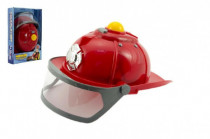 Helma prilba hasič plast 28cm na batérie so svetlom so zvukom