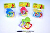Gumové hryzátko + prívesky - mix variantov či farieb